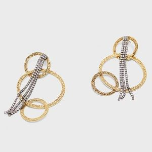 Zara | gold and silver earrings